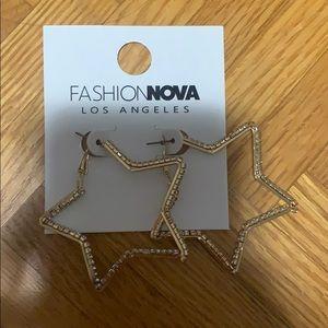 Fashion nova star earrings